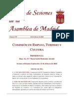 Asamblea de Madrid. 12 02 2014 IX-DS-535