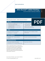 Altro Technical Cleaning Guide Rubber Flooring