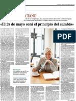 Entrevista a Elena Valenciano en El Mundo.