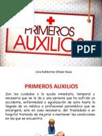 PRIMEROS AUXILIOS DIAPOSITIVAS