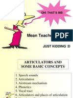 Phonetics and phonology - Articulators and Some Basic Concepts