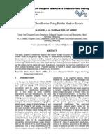 Land Cover Classification Using Hidden Markov Models