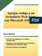 4.- Agregar Codigo a Los Formularios Web Form