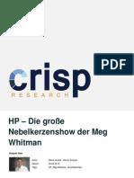 HP – Die große Nebelkerzenshow der Meg Whitman