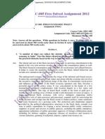 IGNOU MEC-005 Free Solved Assignment 2012