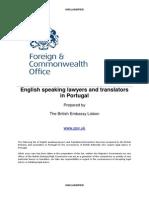 Portugal Lawyers and Translators September 2013