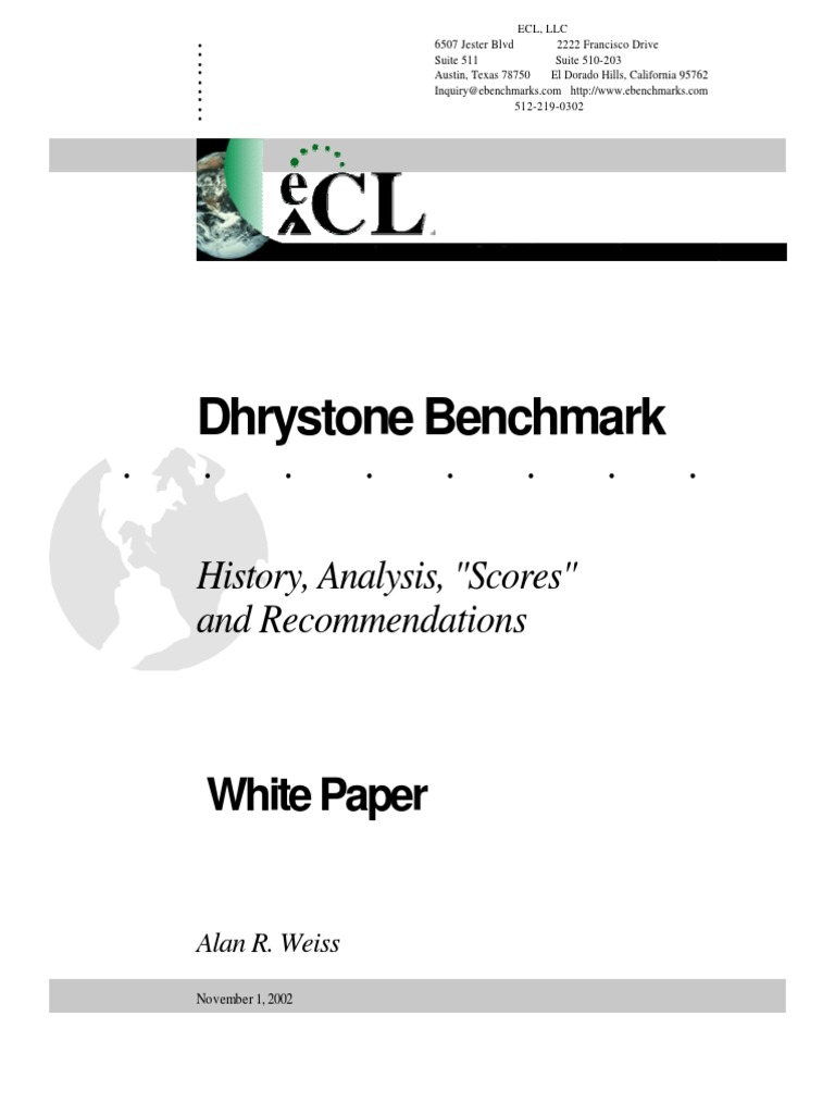 Dhrystone White Paper | Mips Instruction Set | Arm Architecture