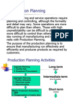 Production Planning and Inventory Management