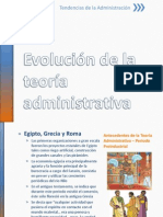 Evolución de la Teoaría Administrativa