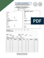 Nota de Insotire a Probelor catre IP - Centrul de diagnostic