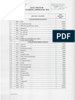 IPasteur - Diagnostic - Lista Preturi Examene Laborator Nr.145- 21.02.2014