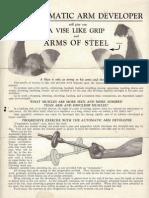 Arm Exerciser Advertisement