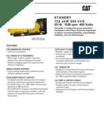 3412C 900 kVA Standby LowBsfc EU 50Hz