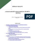 Hóman munkái-A magyar hún hagyomány