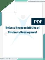 Roles & Responsibilities of Business Development