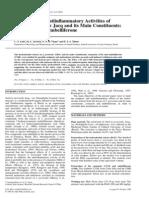 Analgesic and Antiinflammatory Activities Of