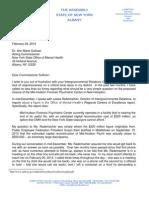 Assemblyman Skoufis Letter to OMH Commissioner Sullivan