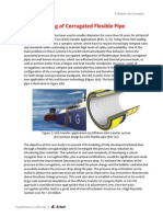 CFD Modeling of Corrugated Flexible Pipe