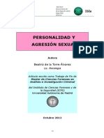 Personalidad y Agresion Sexual