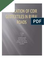 Coir Geotex in Rural Roads