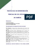 Protocolo de intervención famíliar