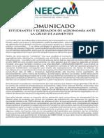 Comunicado ANEECAM VENEZUELA