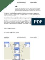 Description of Problem(Database Completed)