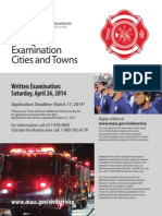 Firefighter Examination Cities and Towns