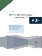 Proyecto Emergencias Ambientales 2013-2