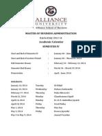 MBA Sem IV July 2012-14 Academic Calendar