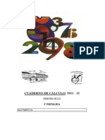 Cuaderno de Calculo 5 Primaria