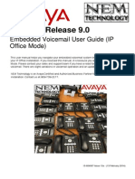 Embedded Voicemail for Avaya IP Office 9.0-NEM Technology