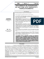 N-0009 D - TRATAMENTO DE SUPERFÍCIES DE AÇO COM JATO ABRASIVO E HIDROJATEAMENTO - Procedimento
