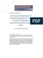 A Human Development and Capability Approach to Food Security