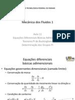 12 - Equações Diferenciais Básicas Adimensionais - Teorema Pi de Buckingham