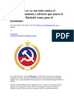 El Mercurio se va con todo contra el Partido Comunista y advierte que usará el gobierno de Bachelet como paso al socialismo