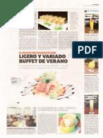 Buffet de verano en el restaurante del hotel Sonesta El Olivar -Diario La República