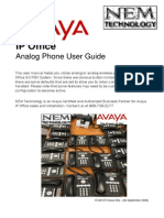Avaya IP Office Analog Phone User Guide NEMTECHNOLOGY