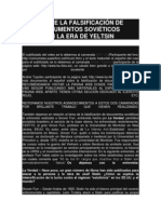 SOBRE LA FALSIFICACIÓN DE DOCUMENTOS SOVIÉTICOS