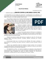 18 DE FEBRERO DE 2014.- MEDIDAS DE PREVENCIÓN EVITA CASOS DE INFLUENZA A (H1N1), SSO