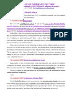 DUHUL SFÂNT ÎNTRUPAT ÎN MATERIE-24.02.2014