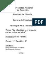 """Trabajo Practico de Informática. """"La obesidad y el impacto en las redes sociales"""""""