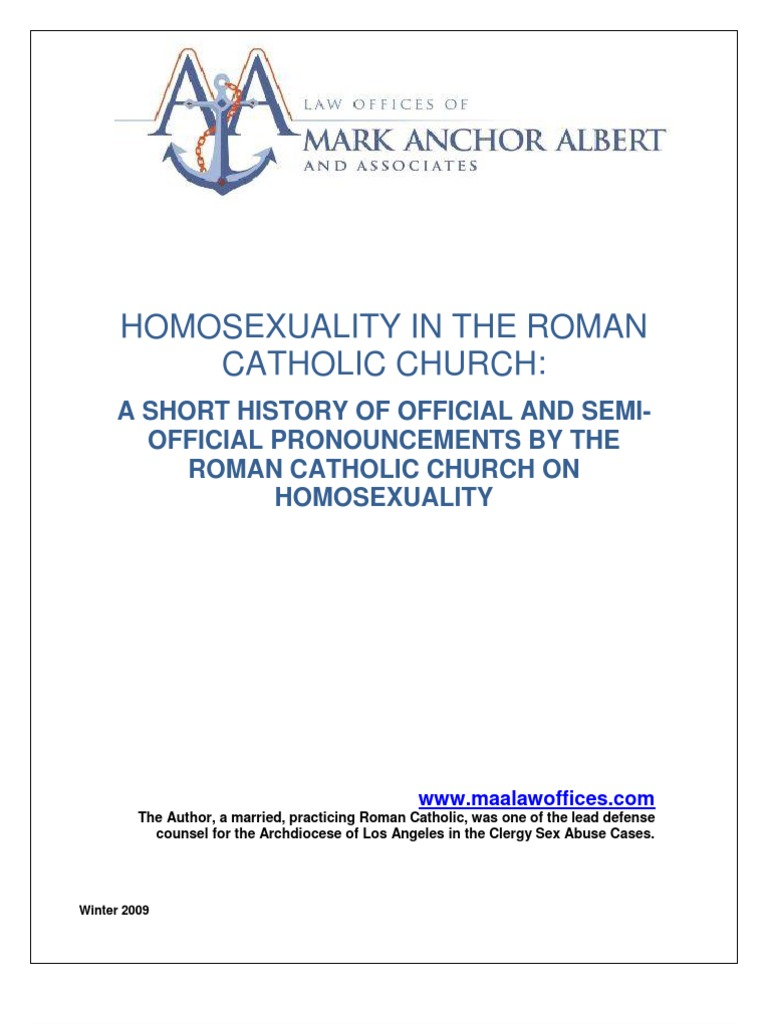 Catechism view on homosexuality in christianity