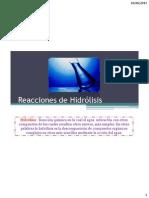 13 Reacciones de Hidrc3b3lisis