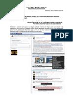 Carta Notarial al Sr. Eduardo Frei Bruno Gómez