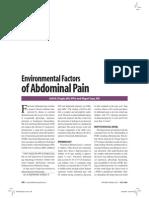 Environmental Factors of Abdominal Pain(2009)