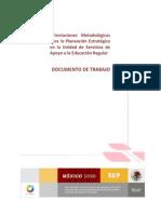 Orientaciones Planeacion Estrat. USAER 2010