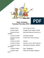 ECC MDO 1's Daily Schedule