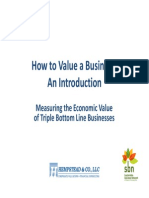 How to Value a Business - Presentation for Sustainable Business Network of Philadelphia - February 25, 2014