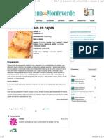 Budín de manzanas en capas - Recetas Jimena Monteverde